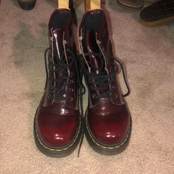 Martins Shoes Poshmark Martens Dr Vegan Red Dr Cherry wg5C5Yq